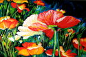 Painting--Oil-FloralWILD POPPIES
