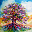 OAK SUNSET ~ TREE of LIFE by M BALDWIN (thumbnail)