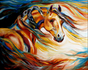 THUNDER WIND ~An Equine Abstract (thumbnail)