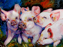 Painting--Oil-AnimalsMY DIRTY LITTLE PIGS