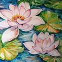 TWO WATERLILIES (thumbnail)