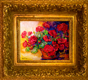 RED GERANIUMS 1620 by M BALDWIN (thumbnail)