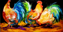 Painting--Oil-AnimalsHOWDY ROOSTER by M BALDWIN