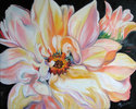 Painting--Oil-FloralDAHLIA LOVE by M BALDWIN