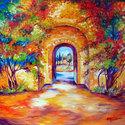 TUSCAN GARDEN GATE by M BALDWIN (thumbnail)