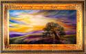 LONE OAK LANDSCAPE by M BALDWIN (thumbnail)
