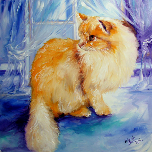 KITTY at WINDOW by M BALDWIN (large view)