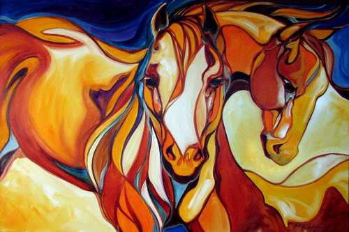 EQUINE ABSTRACT BEYOND by M BALDWIN (large view)