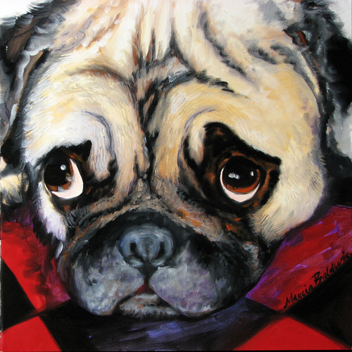 MY PUG PUPPY by M BALDWIN (large view)