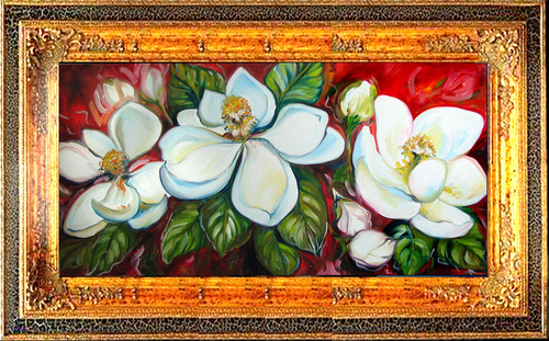 SWEET MAGNOLIAS by M BALDWIN (large view)