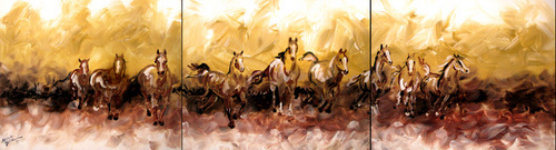TRIPTYCH EQUINE ABSTRACT (thumbnail)