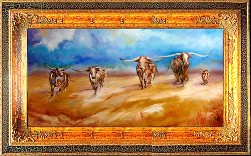 OPEN RANGE LONGHORNS (large view)