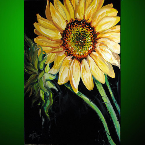 SUNFLOWER LOVE ~ by M BALDWIN (large view)