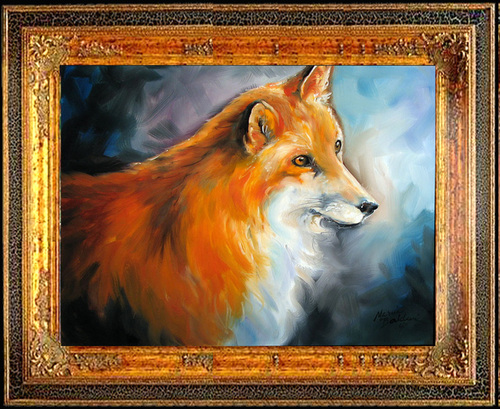 RED FOX STUDY by M BALDWIN (large view)