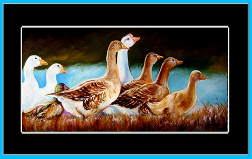 BATHTIME DUCKS by M BALDWIN (large view)