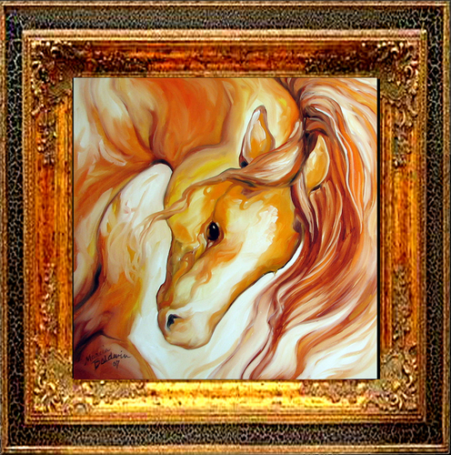 ABSTRACT STALLION PRANCE by M BALDWIN (large view)