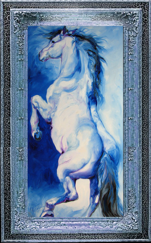 THE BLUE ROAN by M BALDWIN (large view)