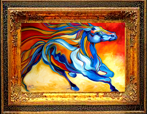 STORMY an Equine Abstract (large view)