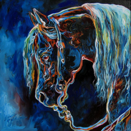 EQUINE NIGHT GLOW by M BALDWIN (large view)