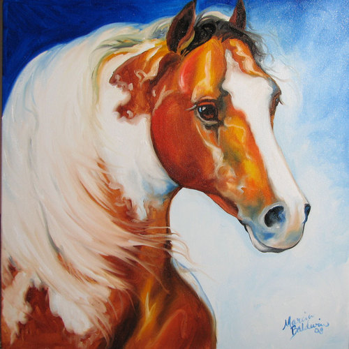 THE PAINTED PONY by M BALDWIN (large view)
