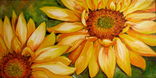 SUNFLOWER SMILES ~ by M BALDWIN (thumbnail)