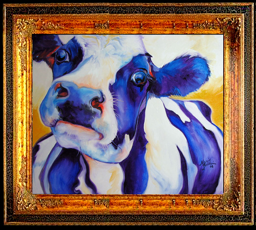 MOOME BLUE COW (large view)