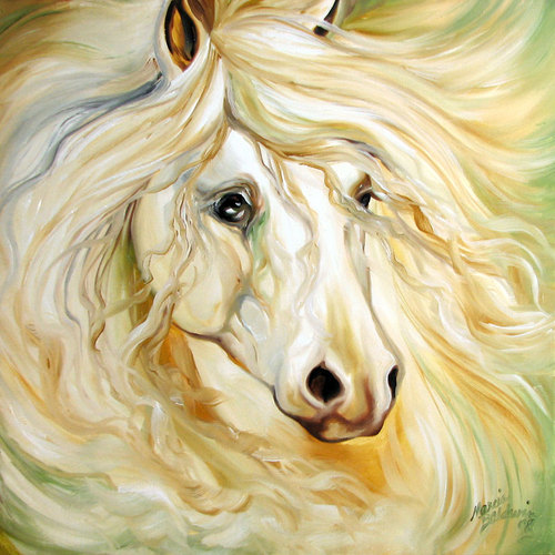 GOLDEN STARDUST ~ EQUINE ART (large view)