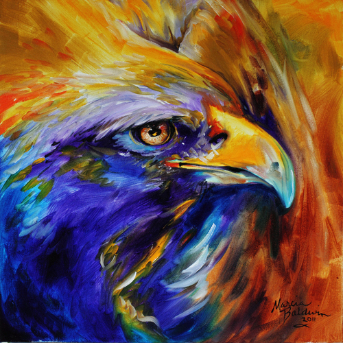 GOLDEN EAGLE ABSTRACT  (large view)