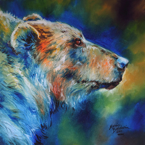 Painting--Oil-WildlifeBEAR ABSTRACT 18