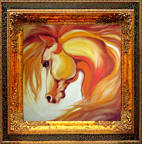 SIENNA GOLD ~ EQUINE ART (large view)