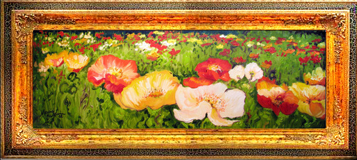 POPPY FIELDS FOREVER 36X12 (large view)