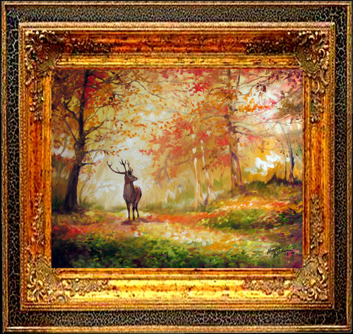 DEER PATH by M BALDWIN (large view)