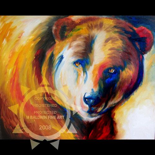 BEAR ~ WILDLIFE ORIGINAL 30X24 (large view)