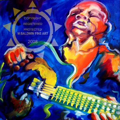 Painting--Oil-AbstractNOLA JAZZ GUITAR