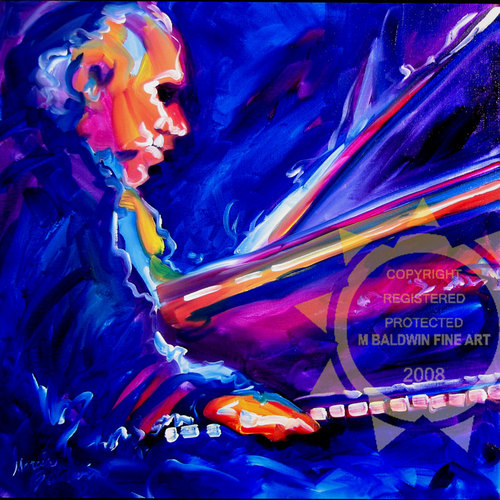 Painting--Oil-AbstractNOLA JAZZ PIANO