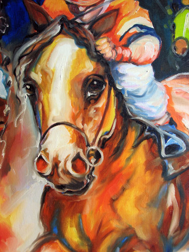 DETAIL ~ RACING DAY ~ EQUINE ORIGINAL (large view)