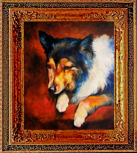 COLLIE FRIEND by M BALDWIN (large view)