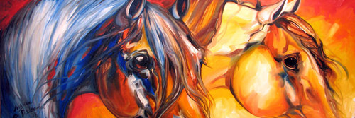 DESERT STORM EQUINE ABSTRACT (thumbnail)