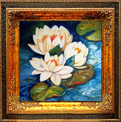 WATERLILY 3 by M BALDWIN (large view)