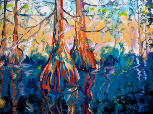 BLUE BAYOU CYPRESS ABSTRACT (large view)