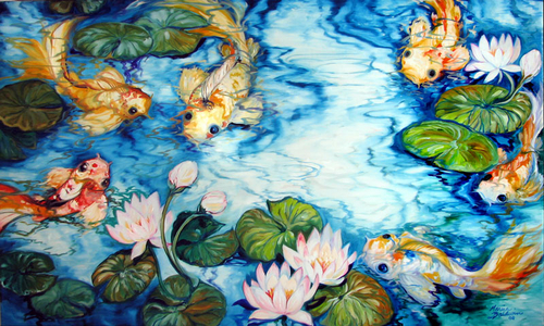 SIX KOI POND (large view)