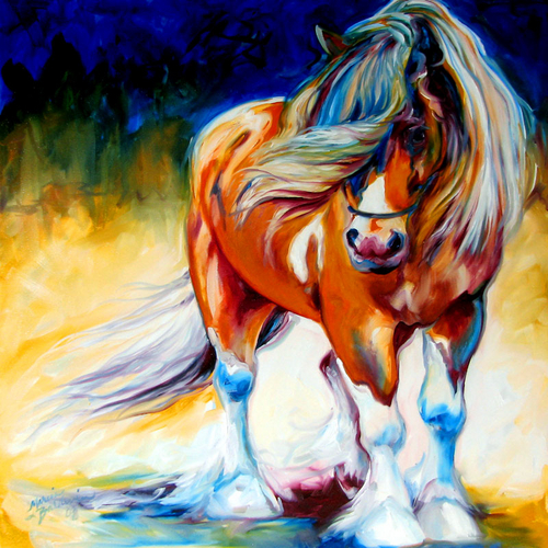 COWBOY the Gypsy Vanner Horse by M Baldwin (large view)