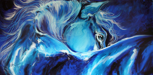 BLUE NIGHT ABSTRACT EQUINE (thumbnail)