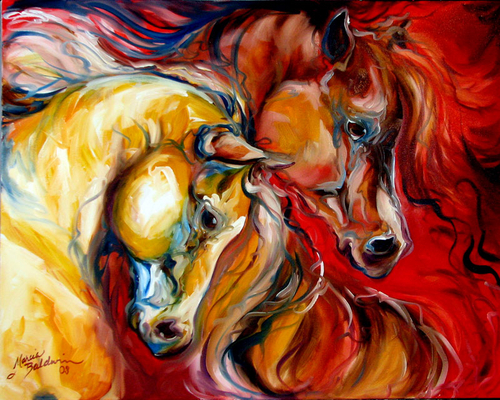 EQUUS WILD FURY ~ An Equine Abstract by M Baldwin (large view)