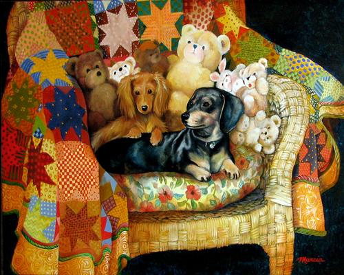 COMMISSION A PET PORTRAIT by M BALDWIN (large view)