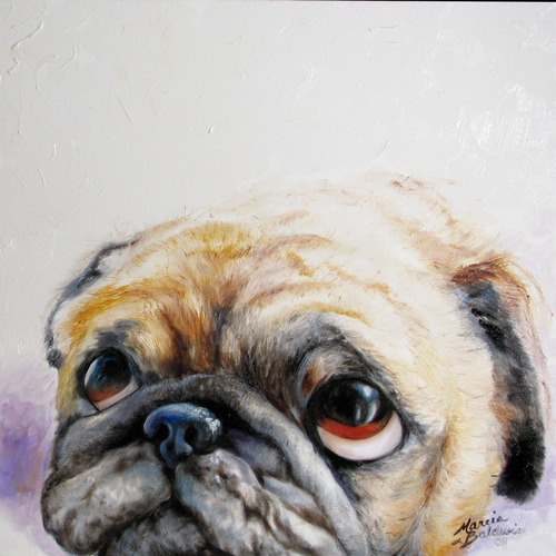 PUG LOVE  by M BALDWIN (large view)
