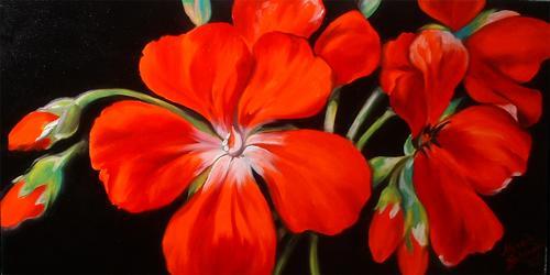 Geraniums Red