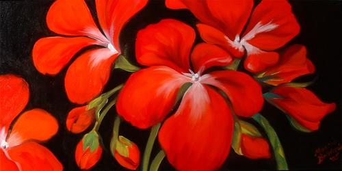 Red Geraniums (thumbnail)