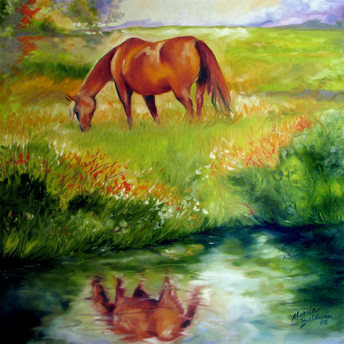 PEACE ~ an EQUINE ORIGINAL by M BALDWIN (large view)
