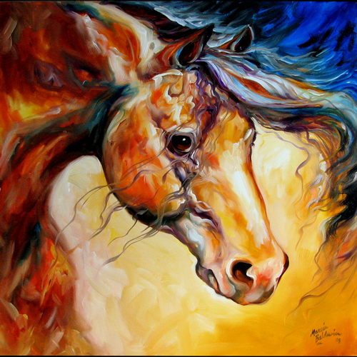 STALLION PRIDE by M BALDWIN EQUINE ART (large view)
